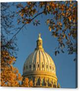 Beautiful Idaho State Capitol In Autumn Morning Canvas Print