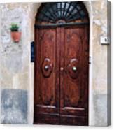 Viaje Beautiful Italian Door Volterre  Canvas Print