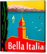 Beautiful Italy, Lake Garda, Riviera Canvas Print