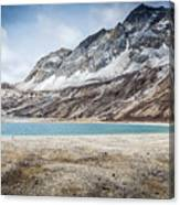 Beautiful Lake And Snow Mountain Canvas Print
