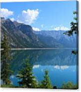 Beautiful Lake Minnewanka Canvas Print