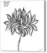 Beautiful Lotus... Black-white Mood Canvas Print