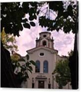 Beautiful Mason Hall - Pomona College - Trees Framing Canvas Print