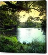 Beautiful Mountain Lake Canvas Print