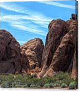 Beautiful Nature Landscape Valley Of Fire  Canvas Print