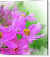 Beautiful Pink Flower Blooming For Background. Canvas Print