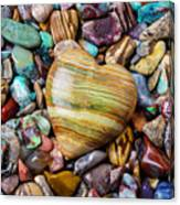Beautiful Polished Colorful Stones Canvas Print
