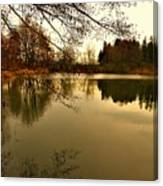 Beautiful Reflection In The Evening Hours Canvas Print