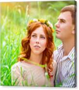 Beautiful Romantic Couple Canvas Print