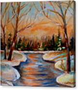 Beautiful  Spring Thaw Canvas Print