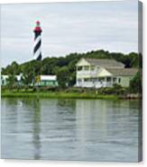 Beautiful St Augustine Lighthouse Waterfront Canvas Print