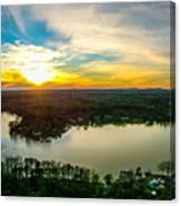 Beautiful Sunset Over Lake Wylie South Carolina Canvas Print
