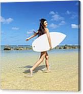 Beautiful Surfer Girl Canvas Print