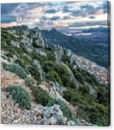 Beautiful View Of Baunei Canvas Print