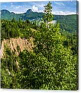 Nature Taking Back Its Place At Vajont Dam Canvas Print