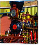 Beautiful Virgina And Truckee Steam Train Canvas Print