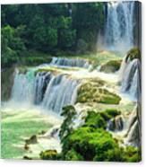 Beautiful Waterfall Crystal Waters Canvas Print
