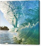 Beautiful Wave And Sunlight Canvas Print