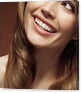 Beautiful Young Smiling Woman Canvas Print