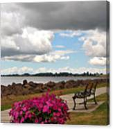 Beauty And The Bench Canvas Print