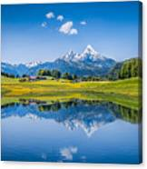 Beauty Of The Alps Canvas Print