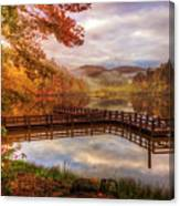 Beauty Of The Lake In Autumn Deep Tones Canvas Print