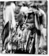 Pow Wow Beauty Of The Past Canvas Print
