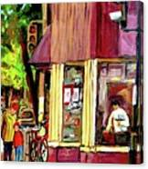 Beautys Luncheonette Montreal Diner Canvas Print