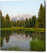 Beaver Pond At Schwabacher Landing Canvas Print
