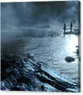 Beaver's Bend Fog Fishing Canvas Print