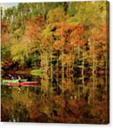 Beaver's Bend Canoeing Canvas Print
