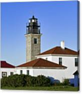 Beavertail Lighthouse Rhode Island Canvas Print