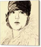 Bebe, Cloche Canvas Print