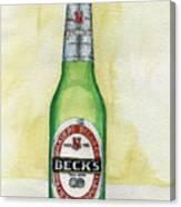 Becks Canvas Print