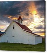 Beckwith Ranch At Sunset With Crepuscular Rays And Virga Canvas Print