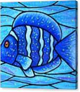 Beckys Blue Tropical Fish Canvas Print