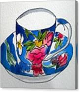 Becky's Teacup Canvas Print