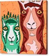 Bedazzled Llamas Canvas Print