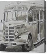 Bedford Ob Coach Of The Forties. Canvas Print