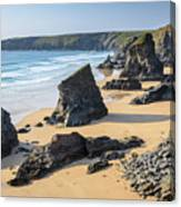 Bedruthan Steps, Cornwall Canvas Print