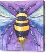 Bee For A Little Bee Canvas Print