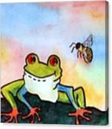 Bee Hoppy Canvas Print