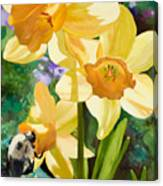 Bee Open By Marilyn Nolan-johnson Canvas Print