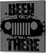 Been There In A Jeep Canvas Print