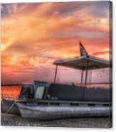 Beer Can Island Sunset Canvas Print