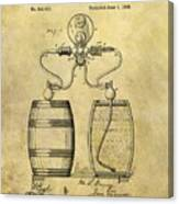 Beer Pump Patent Canvas Print