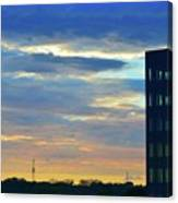 Before Sunset Color  Canvas Print
