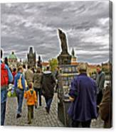 Before The Rain On The Charles Bridge Canvas Print