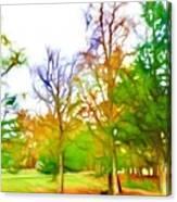 Beginning Of Autumn Canvas Print