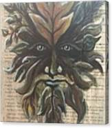 Beguiling Green Man Canvas Print